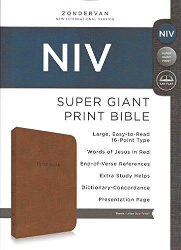 9780310618201: New International Version (NIV) Super Giant Print Bible