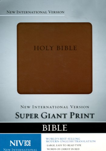 NIV Super Giant Print Bible, Italian Duo Tone Brown