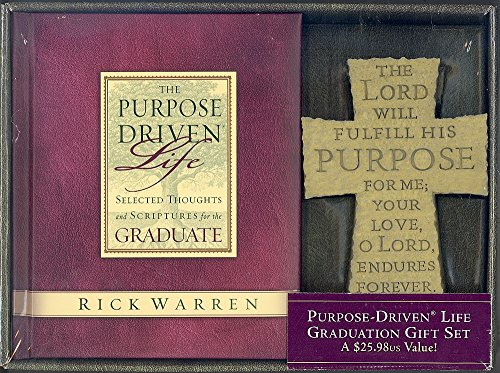 Purpose Driven Life Graduation Gift Set (Book and Inscribed Standing Cross) (0310627168) by Rick Warren