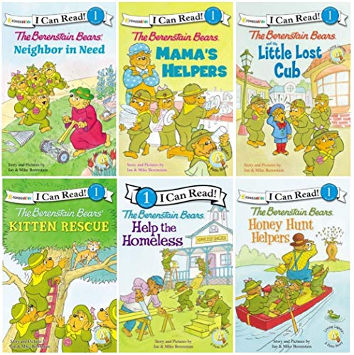 9780310630104: I Can Read Berenstain Bears Collection - 6 Book Set (Mana's Helpers /Honey Hunt Helpers / Help the Homeless / Neighbor in Need / Kitten Rescue / The Little Lost Scout, Level 1)