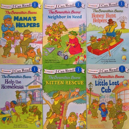 9780310630500: I Can Read Berenstain Bears - 6 Book Set (The Berenstain Bears Mama's Helpers, Bears Help the Homeless, Neighbor in Need, Kitten Rescue, Honey Hunt Helpers, Little Lost Cup)