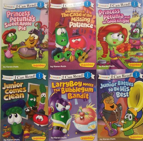 9780310630524: I Can Read Veggie Tales - 6 Book Set, Level 1 (Princess Petunia's Sweet Apple Pie / Junior Comes Clean / Bob and Larry in the Case of the Missing Patience / Junior Battles to Be His Best / Princess Petunia and the Good Knight / LarryBoy Meets the Bubblegum Bandit)