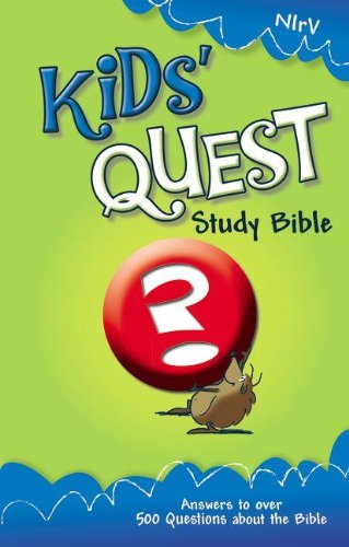 9780310708780: NIrV, Kids' Quest Study Bible, Hardcover: Real Questions, Real Answers (New International Readers Version)