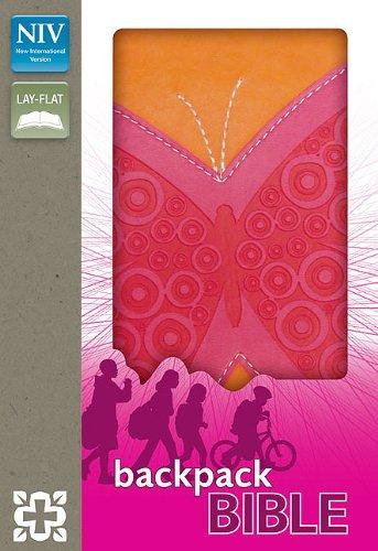 9780310722199: NIV, Backpack Bible, Imitation Leather, Pink/Orange