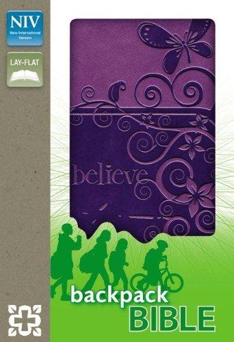 9780310722205: NIV, Backpack Bible, Imitation Leather, Purple