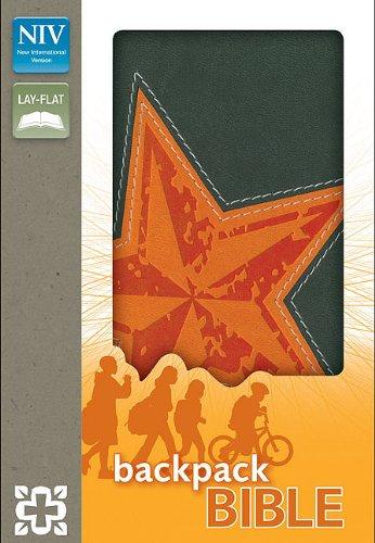 9780310722229: NIV, Backpack Bible, Leathersoft, Gray/Orange