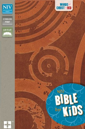 9780310722304: NIV, Bible for Kids, Imitation Leather, Brown, Red Letter: Red Letter Edition