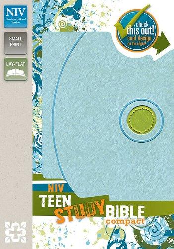 9780310722403: NIV, Teen Study Bible, Compact, Imitation Leather, Blue