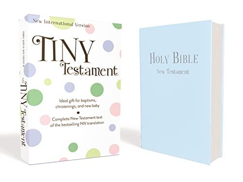 9780310730279: NIV, Tiny Testament Bible: New Testament, Leathersoft, Blue