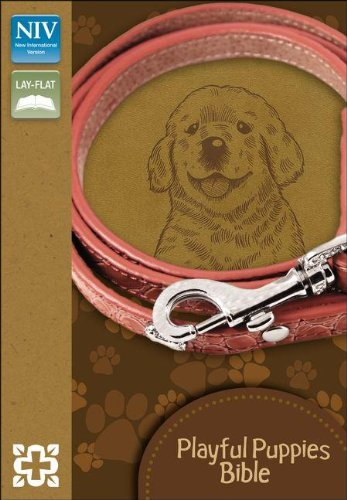 9780310732952: NIV, Playful Puppies Bible, Imitation Leather, Brown, Red Letter