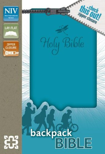 9780310733003: NIV, Backpack Zipper Bible, Imitation Leather, Turquoise, Red Letter