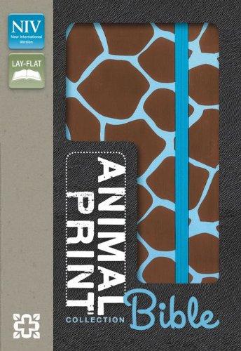 9780310742296: NIV, Animal Print Collection Bible: Giraffe, Imitation Leather, Brown/Blue