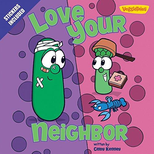 9780310743644: Love Your Neighbor / VeggieTales: Stickers Included! (Big Idea Books)