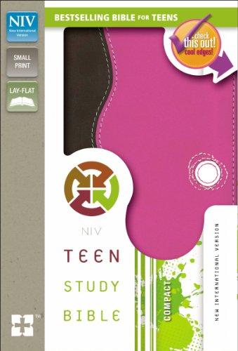 9780310745280: NIV, Teen Study Bible, Compact, Imitation Leather, Pink/Brown