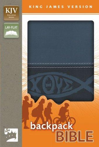 9780310745457: KJV, Backpack Bible, Imitation Leather, Blue