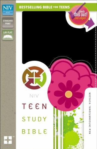 9780310745655: NIV, Teen Study Bible, Imitation Leather, Black/Pink