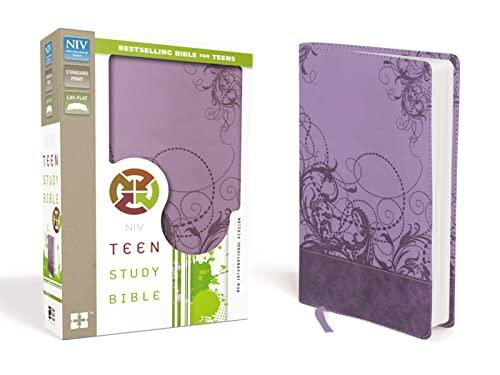 9780310745716: NIV, Teen Study Bible, Leathersoft, Purple