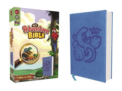 NKJV, Adventure Bible, Leathersoft, Blue, Full Color (Leather): Lawrence O. Richards