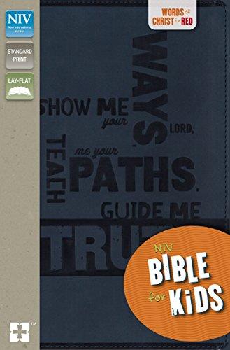 9780310748984: NIV, Bible for Kids, Imitation Leather, Navy, Red Letter