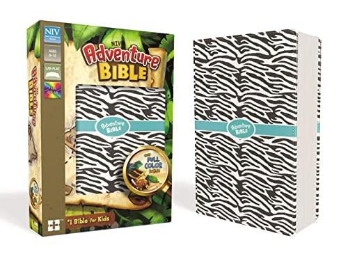 9780310759157: NIV Adventure Bible: New International Version, Zebra Print, Leathersoft, Full Color Inside