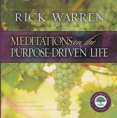 9780310802464: Meditations on the Purpose Driven Life