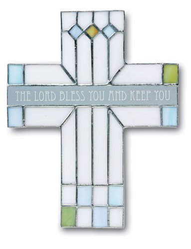 9780310803638: Lord Bless You Stained Glass Cross The