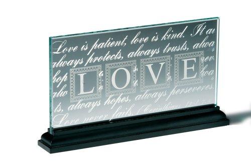 LOVE Standing Glass Plaque (9780310806837) by Zondervan