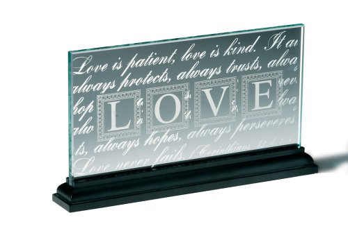 9780310806837: LOVE Standing Glass Plaque