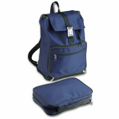 9780310807247: Convertible Backpack Book & Bible Cover Navy/Grey LG