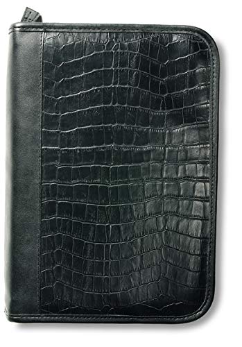 9780310807889: Alligator Leather-Look Book & Bible Organizer Black Extra Large