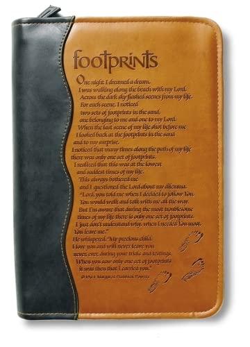 9780310807957: Italian Duo-Tone Footprints LG (Bible Cover)