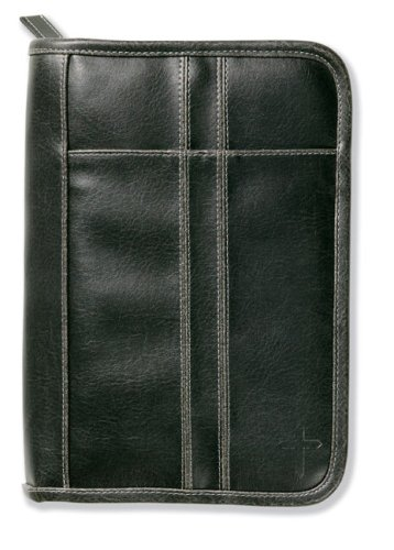 Distressed Leather-Look Black with Stitching Accent Med: Zondervan