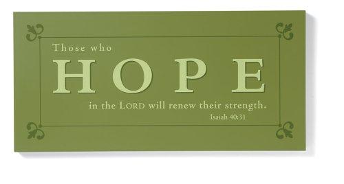 9780310809890: Hope Wooden Plaque