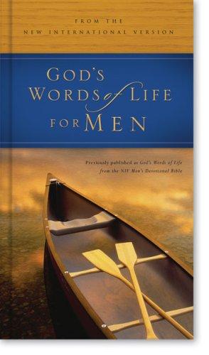 9780310813217: God's Words of Life for Men: from the NIV Men's Devotional Bible Deluxe