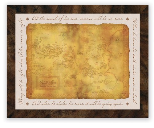 9780310813781: Framed Narnia Map