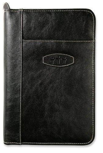 9780310815631: Leather-Look Ebony Extra Large Book & Bible Cover