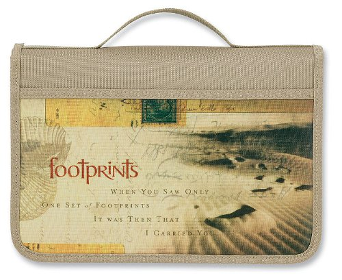 9780310822417: Footprints Canvas Book & Bible Cover