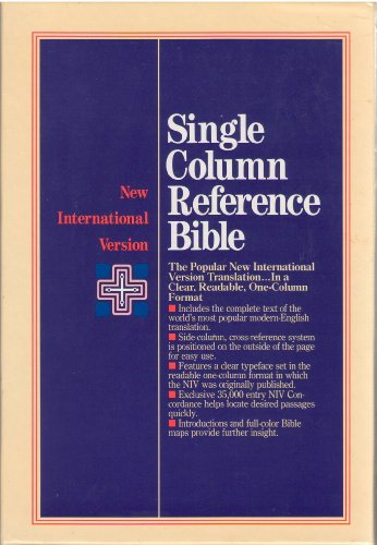 9780310901150: Niv Single Column Reference Bible (New International)