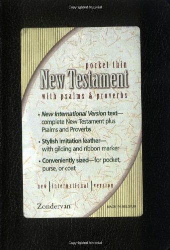 9780310902140: NIV Pocket Thin New Testament With Psalms & Proverbs