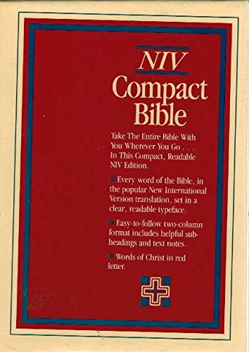 Holy Bible: New International Version, Compact, Button Flap, Bonded Leather, Burgundy