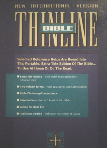 9780310903352: Bible New International Version Thinline Teal Bonded Leather Gold Edging