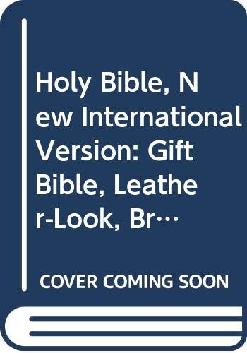9780310903819: Holy Bible, New International Version: Gift Bible, Leather-Look, Brown