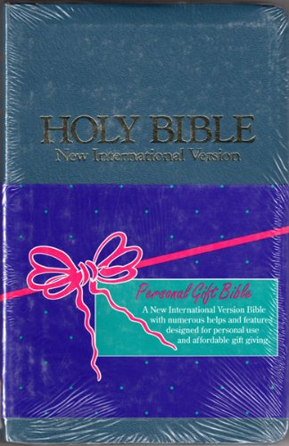 9780310903826: Holy Bible, New International Version: Gift Bible, Leather-Look, Blue