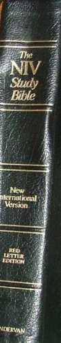 The NIV Study Bible ~ Black Bonded Leather (9780310904977) by Zondervan
