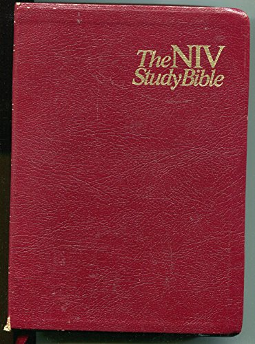9780310905011: The NIV Study Bible, New International Version, Red Letter Edition - Burgundy Top-Grain Leather