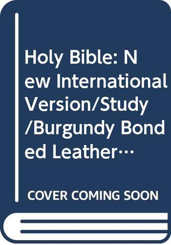 Holy Bible: New International Version/Study/Burgundy Bonded Leather/Gold