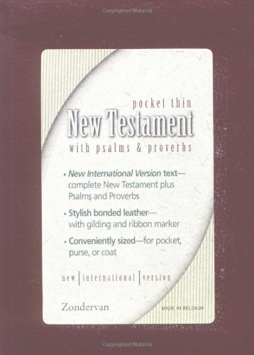 9780310905707: NIV Pocket Thin New Testament with Psalms & Proverbs