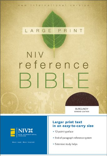 9780310905776: NIV Reference Bible, Personal Size (Burgundy Bonded Leather)