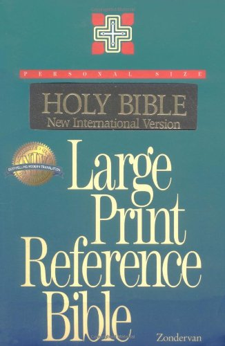 9780310906797: NIV Large Print Personal-size Reference Bible, Imitation leather, Black, Thumb-indexed