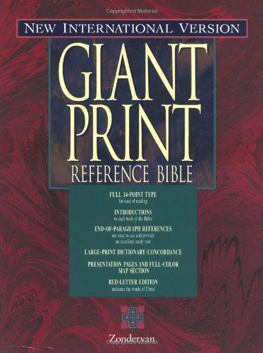 9780310908159: NIV Holy Bible Giant Print Reference Edition, Thumb Indexed, Burgundy Bonded Leather